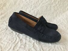 J Crew Crewcuts Boys Childrenchic Navy Suede Loafers Size 34/Us 3 $98