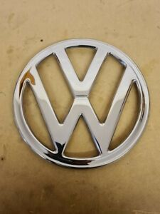 VW Baywindow Front Badge Early Bay T2 68-72, Polished Stainless Steel. Bus