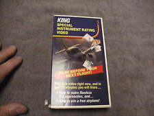 KING Special Instrument Rating VHS Video,