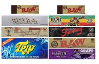 KING SIZE ROLLING PAPERS VARIETY PACK AND RAW TIPS COMBO (SUPER SET)