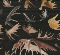 Wild in the Wilderness Riverwoods black elk antlers horns wildlife fabric