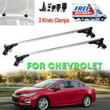 Roof Rack Top Cross Bar Rail Silver Aluminum For Chevy Cruze Impala Malibu 10-17