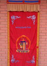 Tibetan Kalchakra Embroidered Cotton Door Curtain Wall Hanging