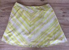 NWOT $89 TALBOTS Yellow Green Ivory Stripe Cotton Full Skirt - Size 22W Petite