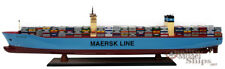Maersk Mc Kinney Moller Container Wooden Ship Model Display Ready