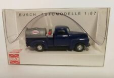 Busch Vintage Blue Chevy Pickup HO scale 1:87 Esso fuel delivery train set new