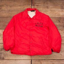 "Mens Vintage Champion 1960s Red LBCC Coach Jacket Poppers Medium 40"" HA168"