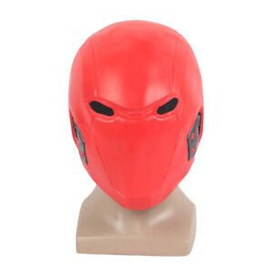 Red Hood Jason Todd Robin Full Head Mask Cosplay Superhero  Costume Props Mask