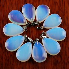 10Pcs Beautiful Opal Opalite Teardrop Pendant Bead ABBX01(9)RL