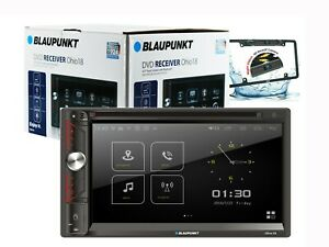 """Blaupunkt Double Din Car Stereo 6.9"""" DVD CD Touch Screen Radio Mirror Link + cam"""
