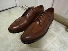 NEVER USED DEAD STOCK VINTAGE 70'S FLORSHEIM WING TIP SHOES MADE IN USA MEN 10.5