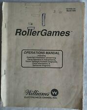 Pinball Roller Games Original Manual Williams Flipper inc Schematics & Cat parts