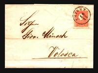 Austria 1858 5Kr Cover Trieste to Volosca - Z16822