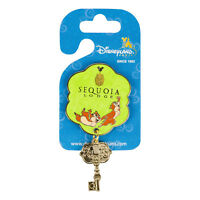 Disneyland Paris Sequoia Lodge Hotel Key Dangle Pin Badge Rare Disney Reveal NEW
