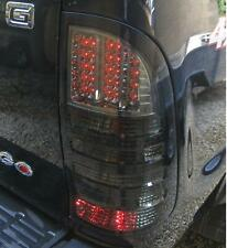 PAIR of Smoked LED rear tail Lights for Toyota Hilux Mk6 Vigo lamp Tinted pickup