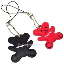 Nismo KWA11-50B10 GT Bear Key Chain Cell Phone Charm Mobile Strap Genuine JDM