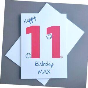 Personalised 11th Birthday Card Boy - 11 Years Old - Son Grandson Nephew