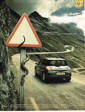 PUBLICITE ADVERTISING 045  2005   RENAULT  MEGANE  EXTREME