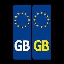 2 x GB Euro Number Plate Stickers EU European Road Legal Car Badge Vinyl