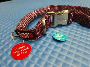 KONG DS ROPE COLLAR PINK SIZE L NECK SIZE 19-26 INCHES REFLECTIVE  FOR DOG NEW!!