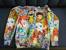 Pokemon All Over Print S Long Sleeve Shirt Sweater Sweatshirt Crewneck Polyester