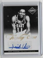 ISIAH THOMAS 2011/12 PANINI LIMITED TROPHY CASE AUTOGRAPH #21/49