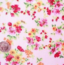 BELINDA ROSA VINTAGE FLORAL tela de algodón por metro BODAS DAMAS HONOR