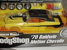 ERTL 1970 CHEVY CHEVELLE BALDWIN MOTION BODY SHOP ASSEMBLY MODEL KIT 1/18 VHTF