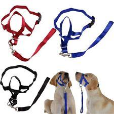 Adjustable Training Nylon Head Collar Harness Pets Halter Leashes Dog Muzzle^