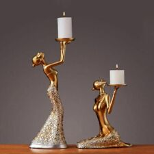Statue Sculpture Candle Holder Stand Candlelight Dinner Decor Luxury Candelabra