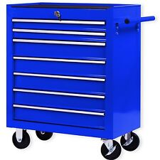 Masko® Werkstattwagen Rollwagen Werkzeugwagen Werkzeugkiste 7 Fächer Blau