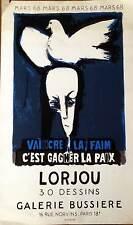 Bernard LORJOU (1908-1986) affiche '68 mars Galerie Bussiere par Mourlot p 1187