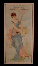 L.M. Averill-Grocer-Barre Vermont-Trade Card-Very Early