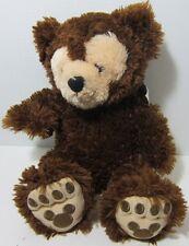 Disney DARK BROWN CREAM Pre Duffy HIDDEN MICKEY FACE Bear Plush LONG FUR NEW HTF