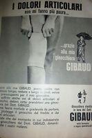 ADVERTISING PUBBLICITA'  DR. GIBAUD  grazie alla ginocchiera    - 1962
