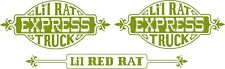 Custom Side Decals for the Dodge Li'l Red Express style LRE Lil