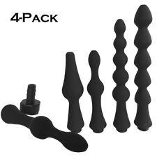 4-Pc Bump Comfort Nozzle Attachment Shower Tip Cleanser Anal Enema Colon Cleaner