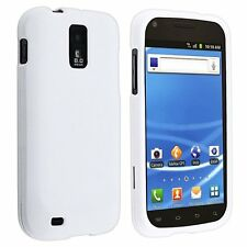 White Rubberized HARD Case Phone Cover T-Mobile Samsung Galaxy S II 2 S2 T989