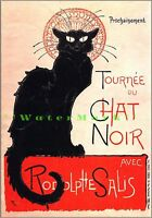 Tournee Du Chat Noir 1896 French Theater Vintage Poster Print Steinlen Cat Art