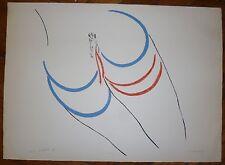 Turcato Giulio Lithographie signée abstraction lyrique Rome Paris art abstrait