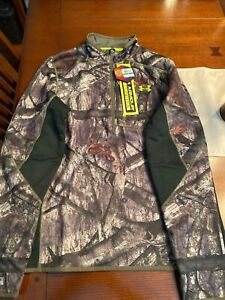 Mens Under Armour Fleece 1/2 Zip Pullover Infrared Large 1259179 905 Mossy Oak *