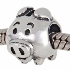 PIG PIGGY BANK SAVINGS BANK 925 Sterling Silver Charm Bead