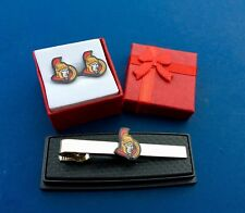 Ottawa Senators Tie Clip & Cufflinks Set Senators Hockey Tie Bar NEW