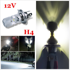 Aluminum 20W H4 LED Motorcycle Headlight Scooter Front Bulb Lamp Light 6500K