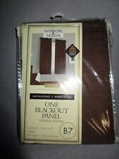 "NIP NEW INTERIOR DESIGNS BLACK OUT PANEL THERMAL-BACKED 40"" X 63"" MOONLIGHT*"