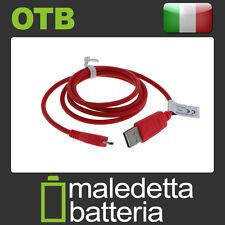 Cavo dati USB/Micro USB Rosso per trasferire dati tra il telefono e PC 0 95m WL2