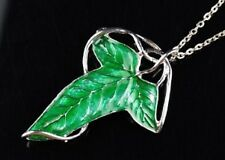 Elven Leaf Brooch Necklace Green Hobbit LOTR Lord of The Rings
