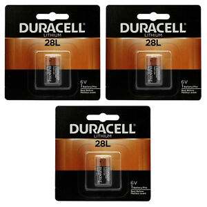 3x Duracell 28L Lithium Battery Replacement for 46V 2CR11108, L544, PX28L