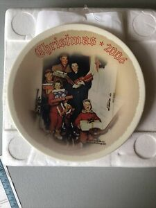 Norman Rockwell Christmas Plate 2006