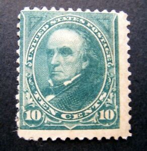 1894 1US S# 258,  10c Webster, unwatermarked Green Stamp MLH OG  some gum issues